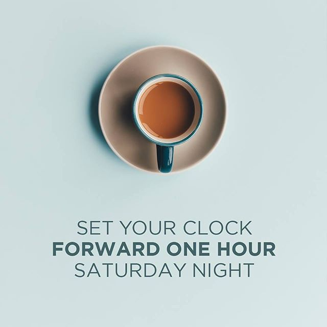 Don't forget that this Sunday we spring ahead! Set your clocks forward an hour Saturday night or you'll miss worshipping with us! #daylightsavings #fccchester