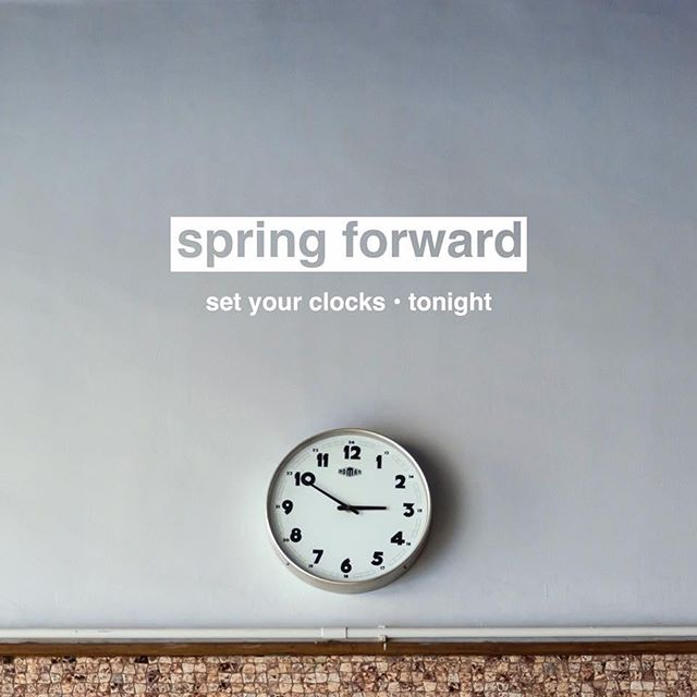 Don't forget to set your clocks forward an hour tonight! We'll see you tomorrow for worship at 10 am! #daylightsavings #fccchester