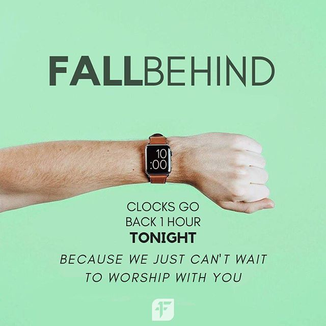 Just a reminder to se your clocks back an hour tonight! See you at worship tomorrow!