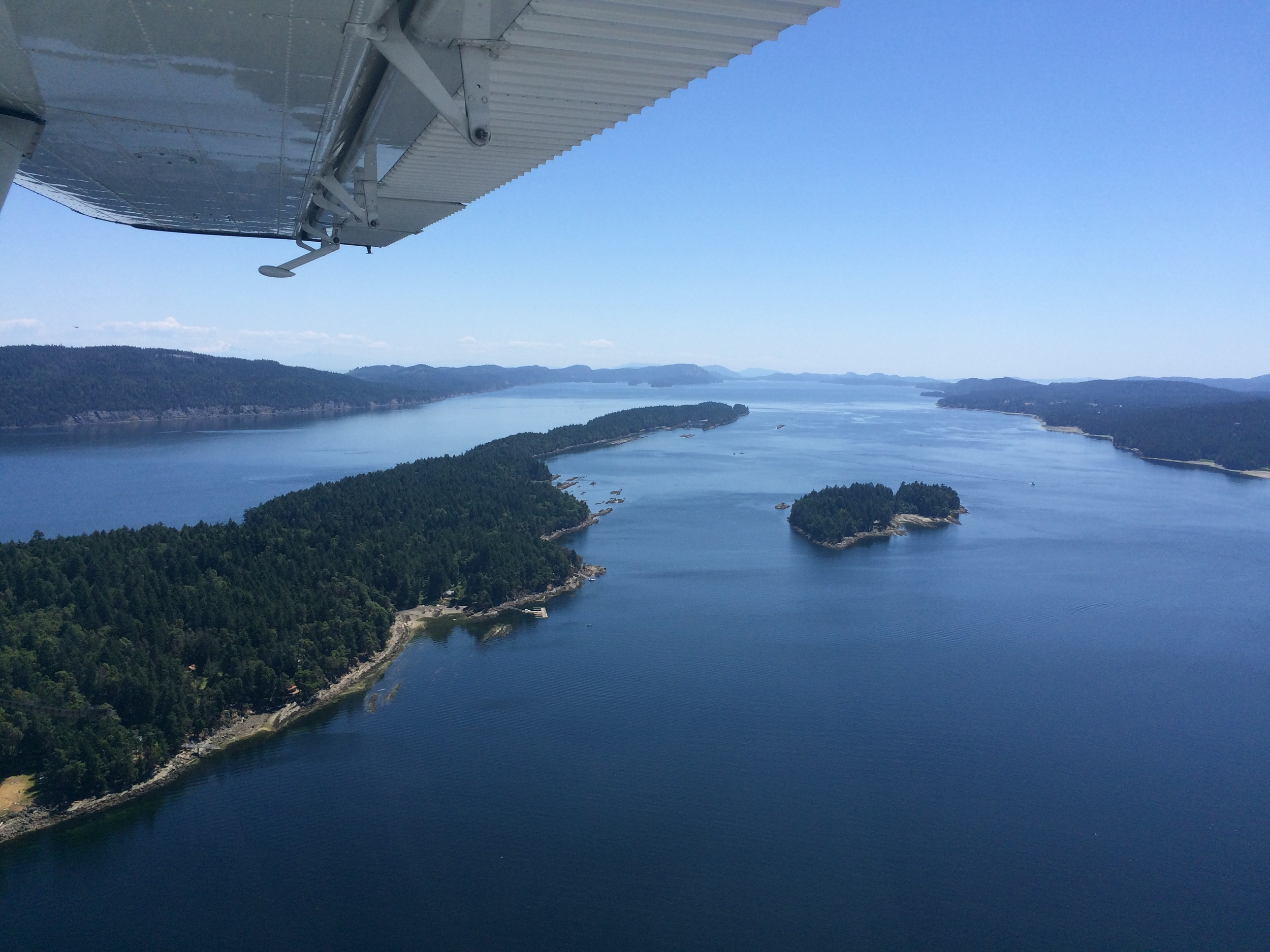 view from my seaplane window.