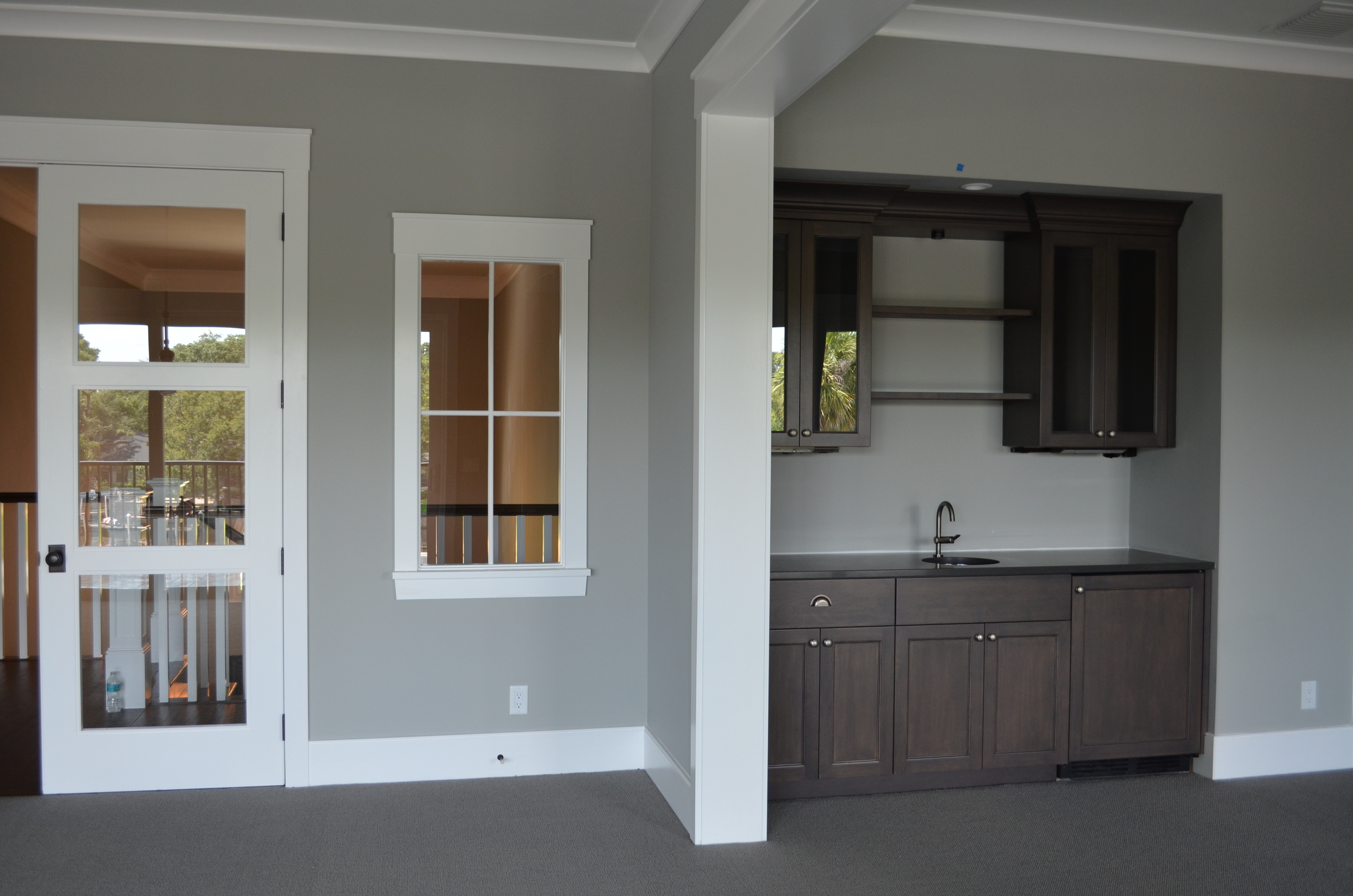 Great Room with Wet Bar Build In