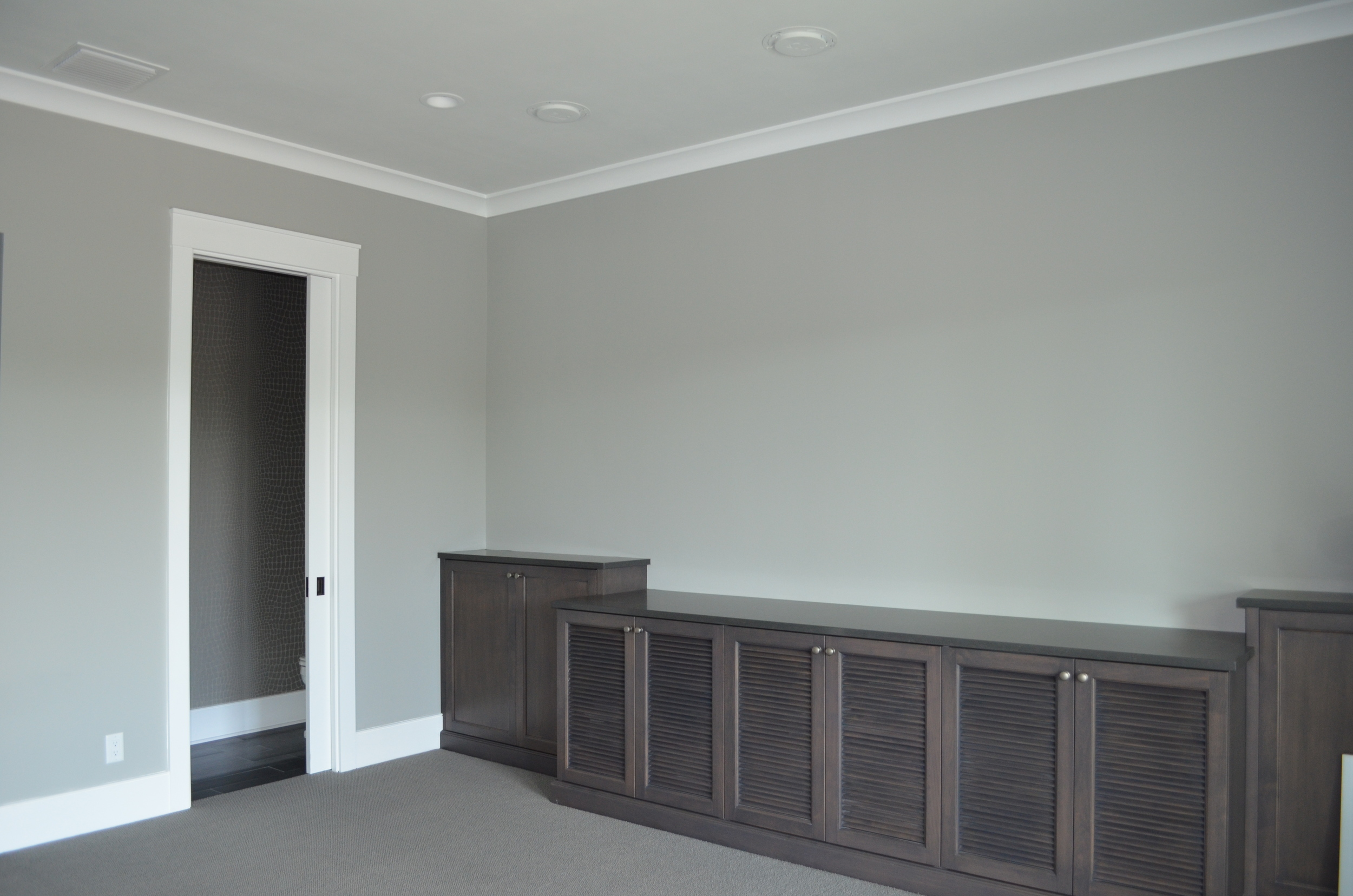Great Room with bCustom Build In