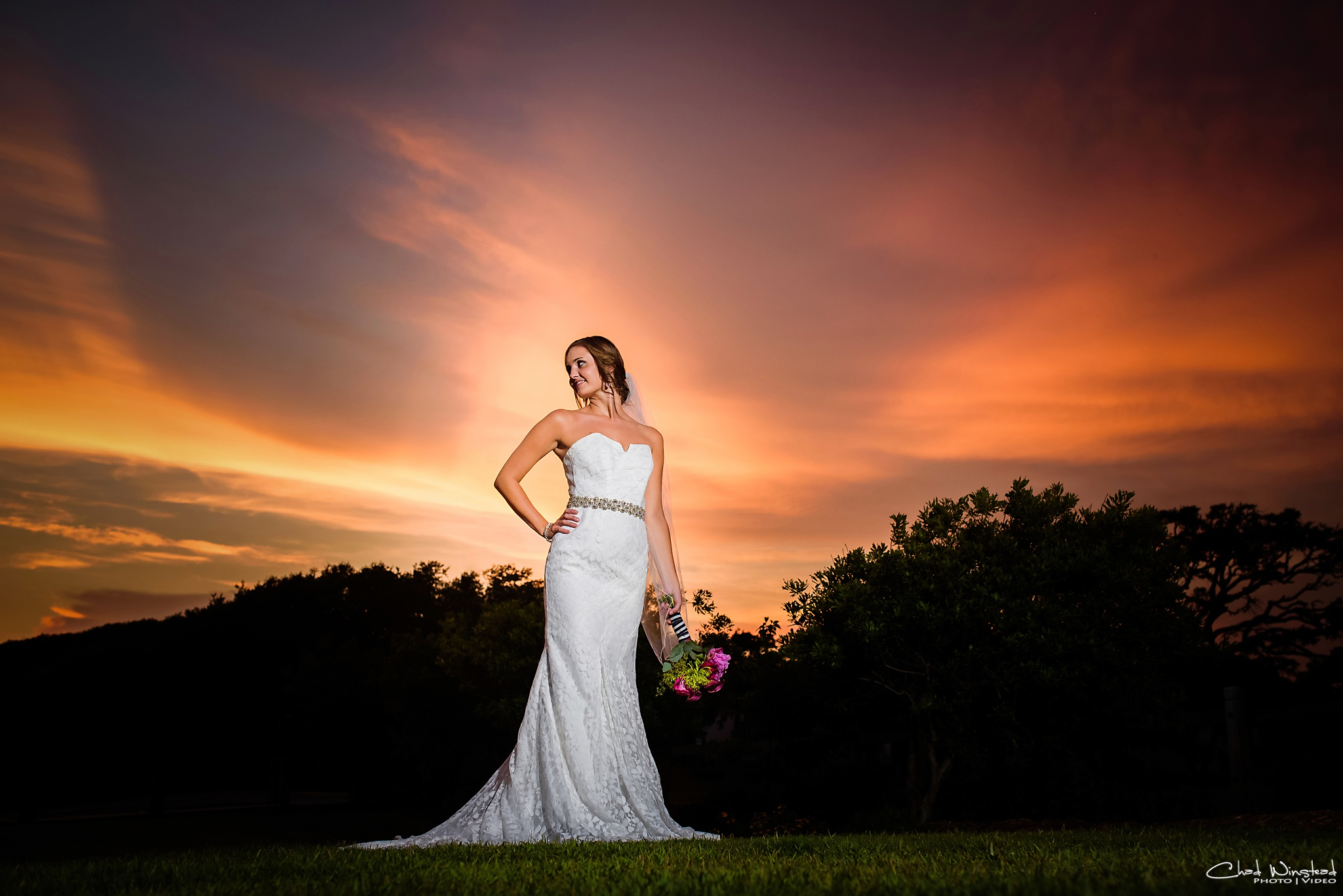 Kelly's Bridal Portraits at the Boathouse at Front Street Village in downtown Beaufort, NC by Chad Winstead Photography