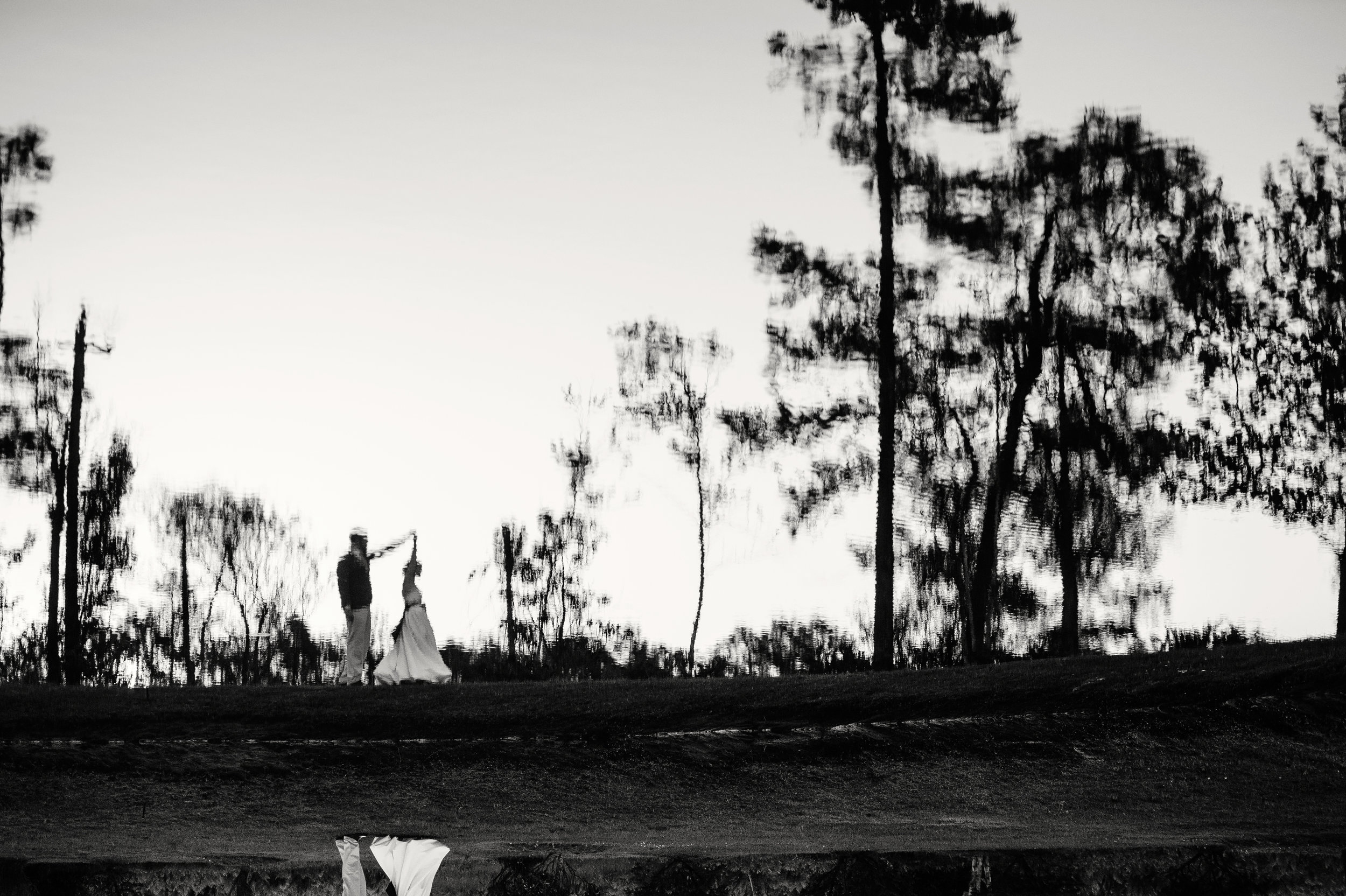Reflection_Bride_Groom_Portrait_Dancing_NC