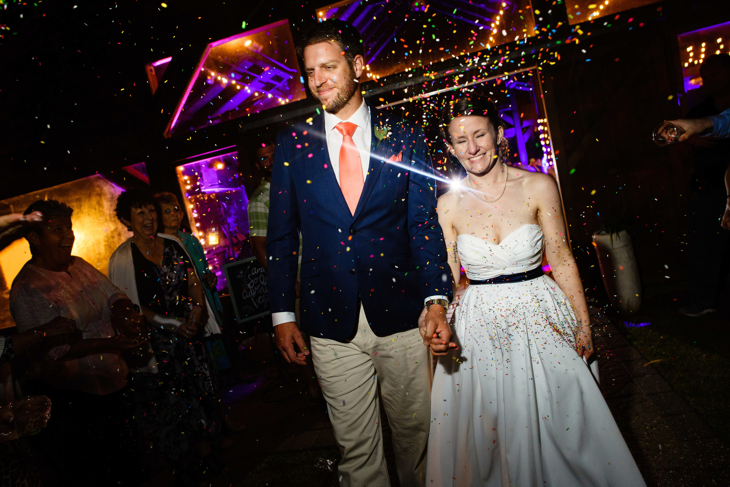 Sprinkle_toss_Wedding_Exit_NC_WEdding_Photographer