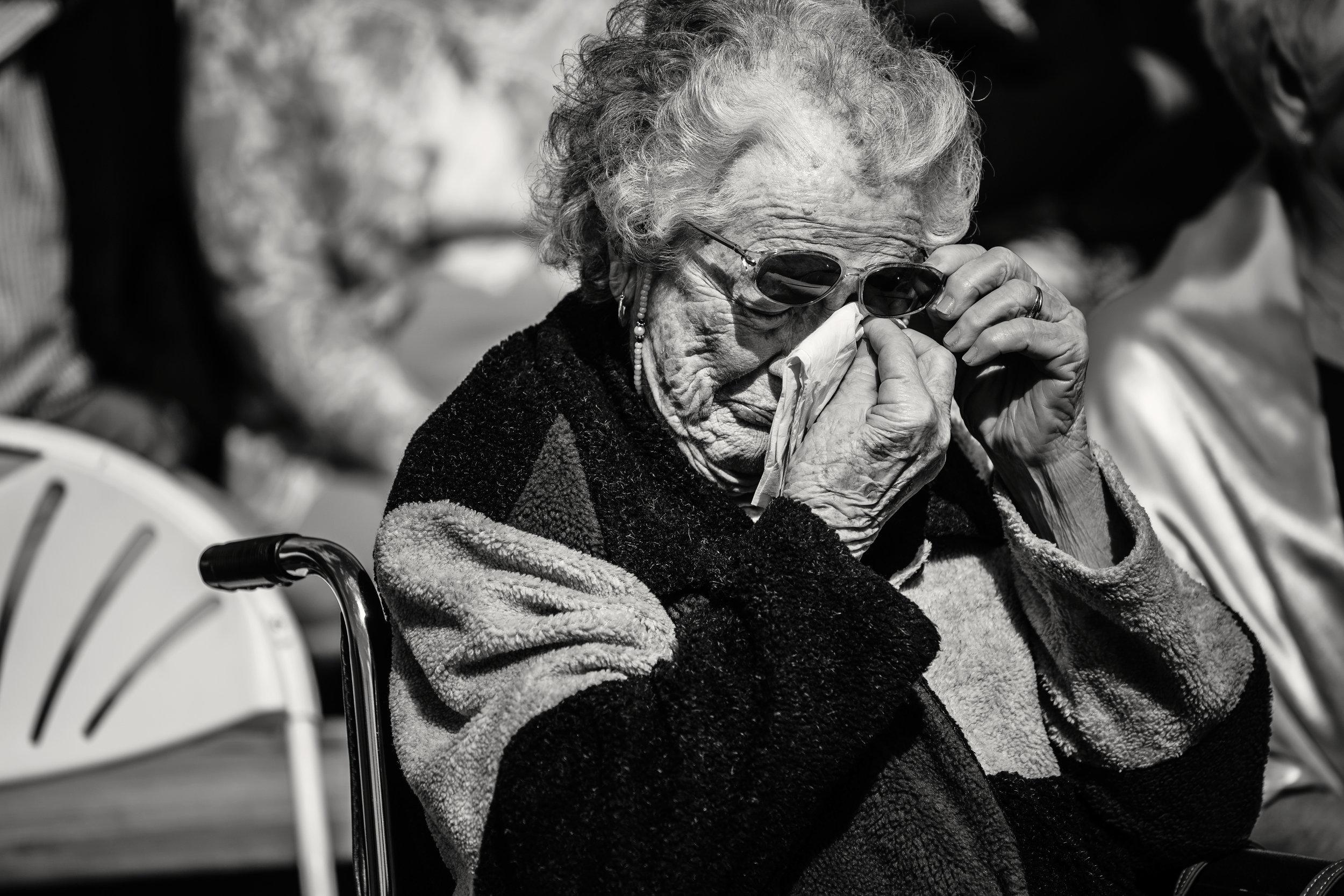 Grandma_Crying_Wedding_Photography_NC