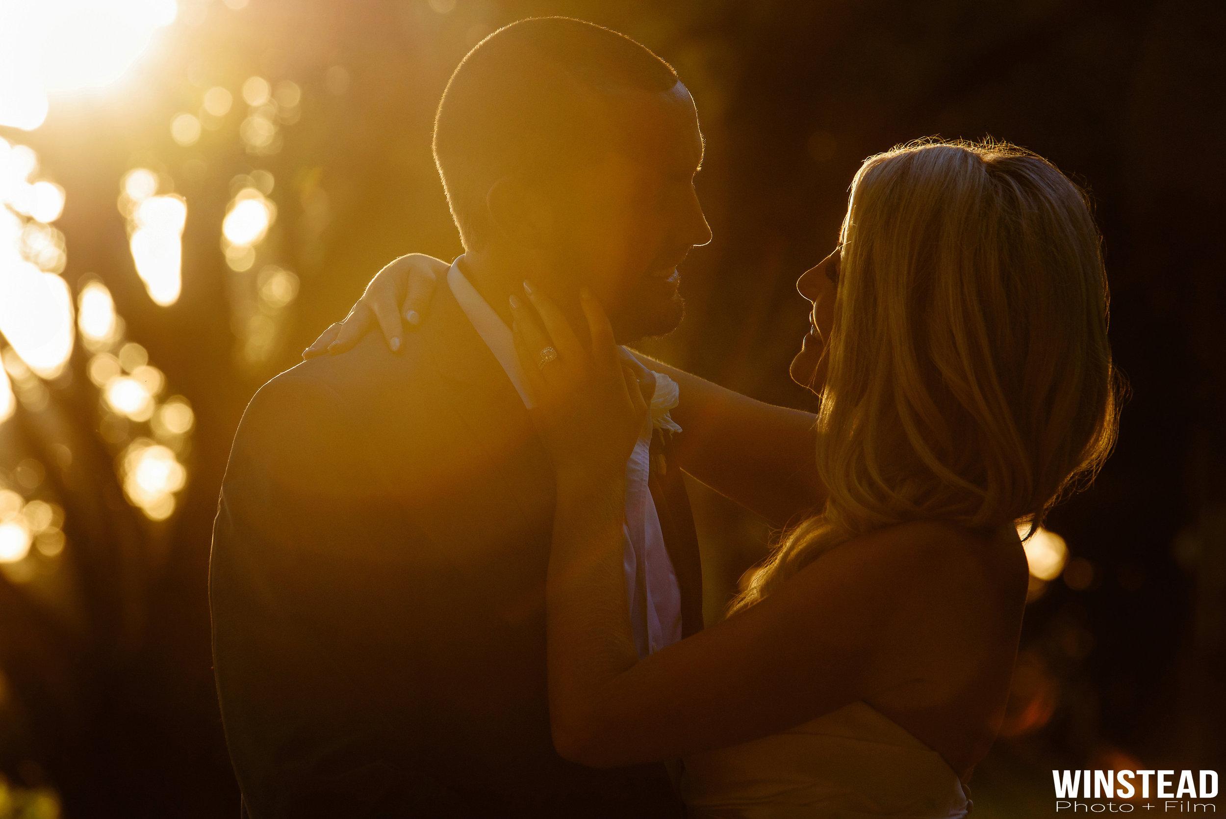 Beaufort, NC Wedding Portrait at Sunset
