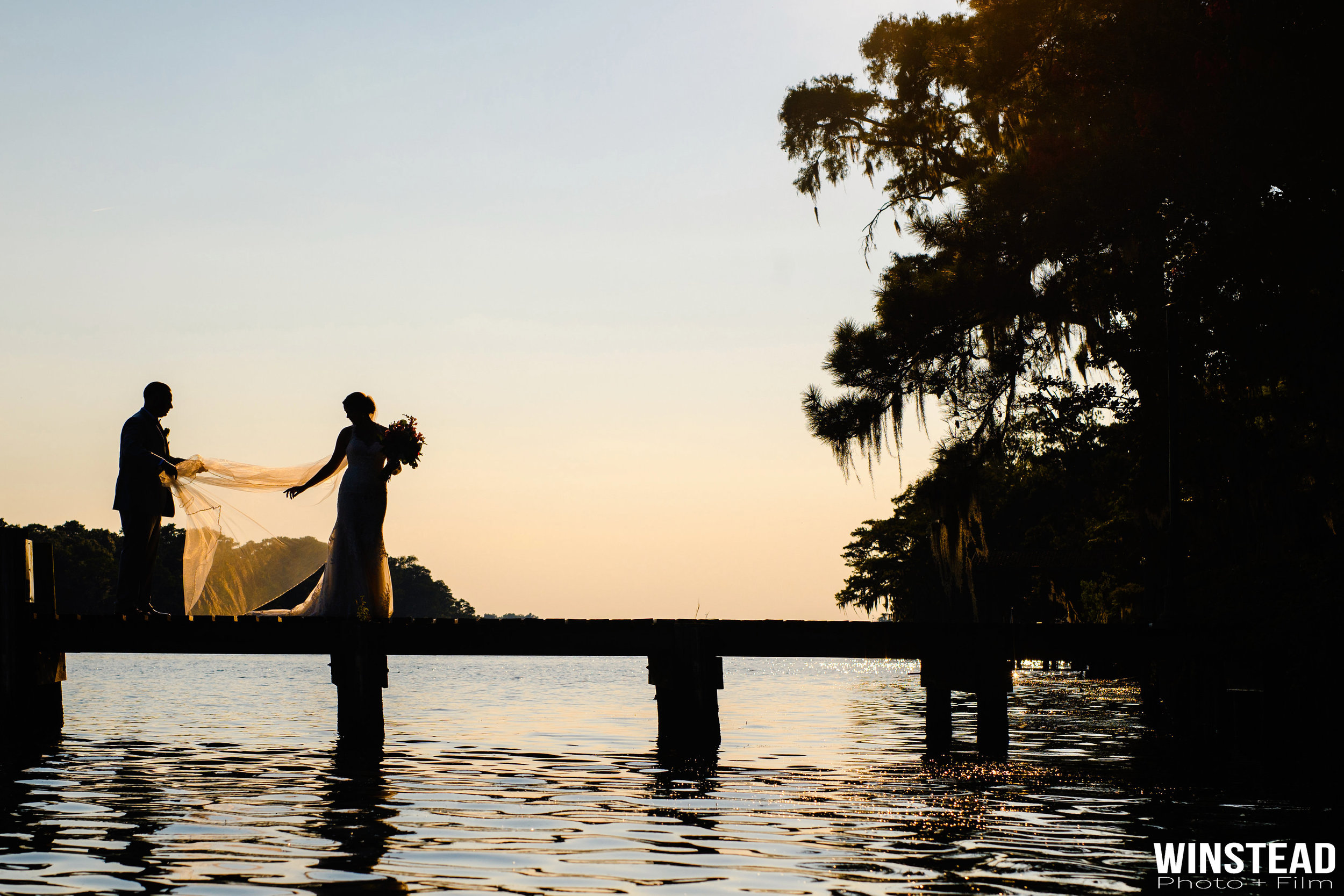 Stunning New Bern NC Golf and Country Club sunset portrait : Chad Winstead Photography