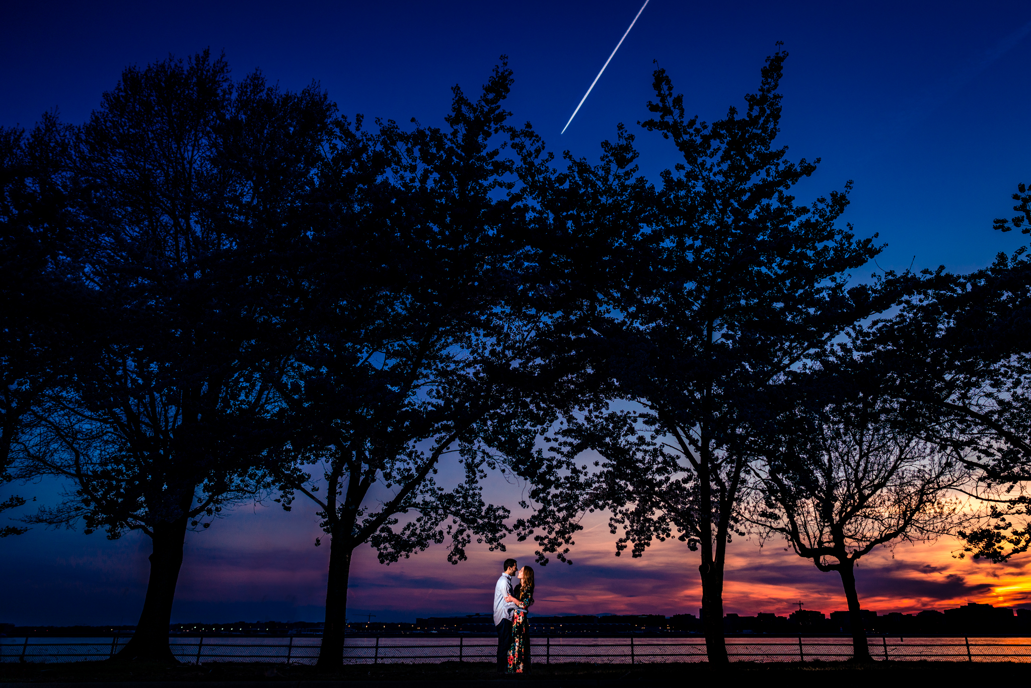 Hains Point Engagement Photos