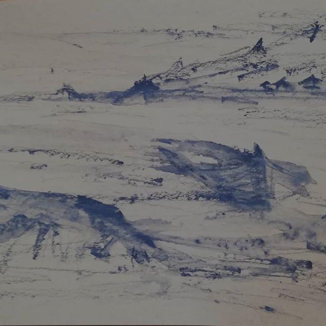 Sketching, skisse #annejensenart #sketching #sketch #skisse #vestland #røtter #roots #akvarell #watercolour