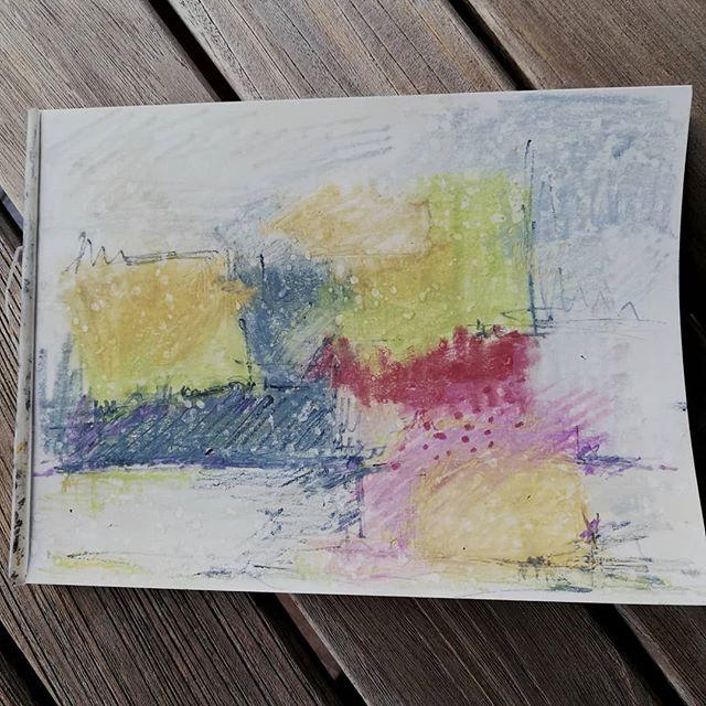 Plein air sketching, skisse i friluft #annejensenart #sketching #pleinair #friluftskisse#abstractartist #conseptual