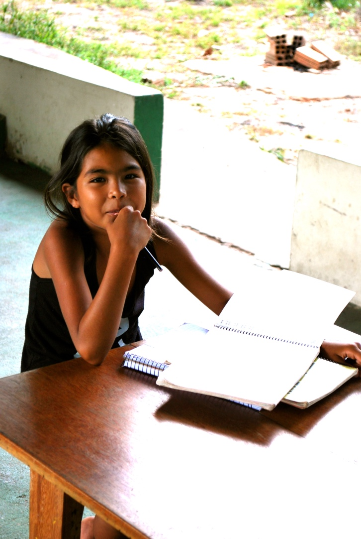Brazil girl studying