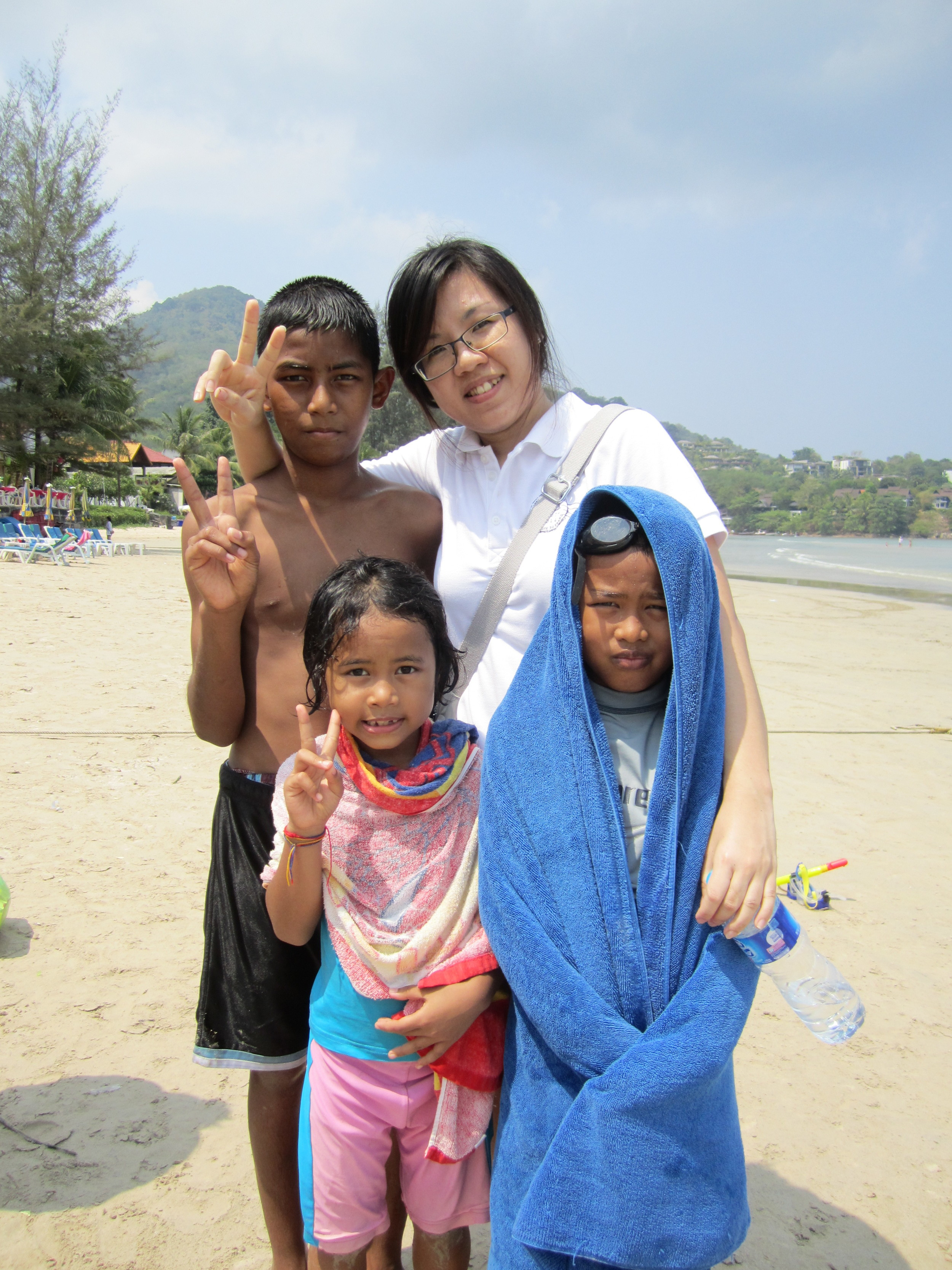 Spending time with the children of Coconut Club