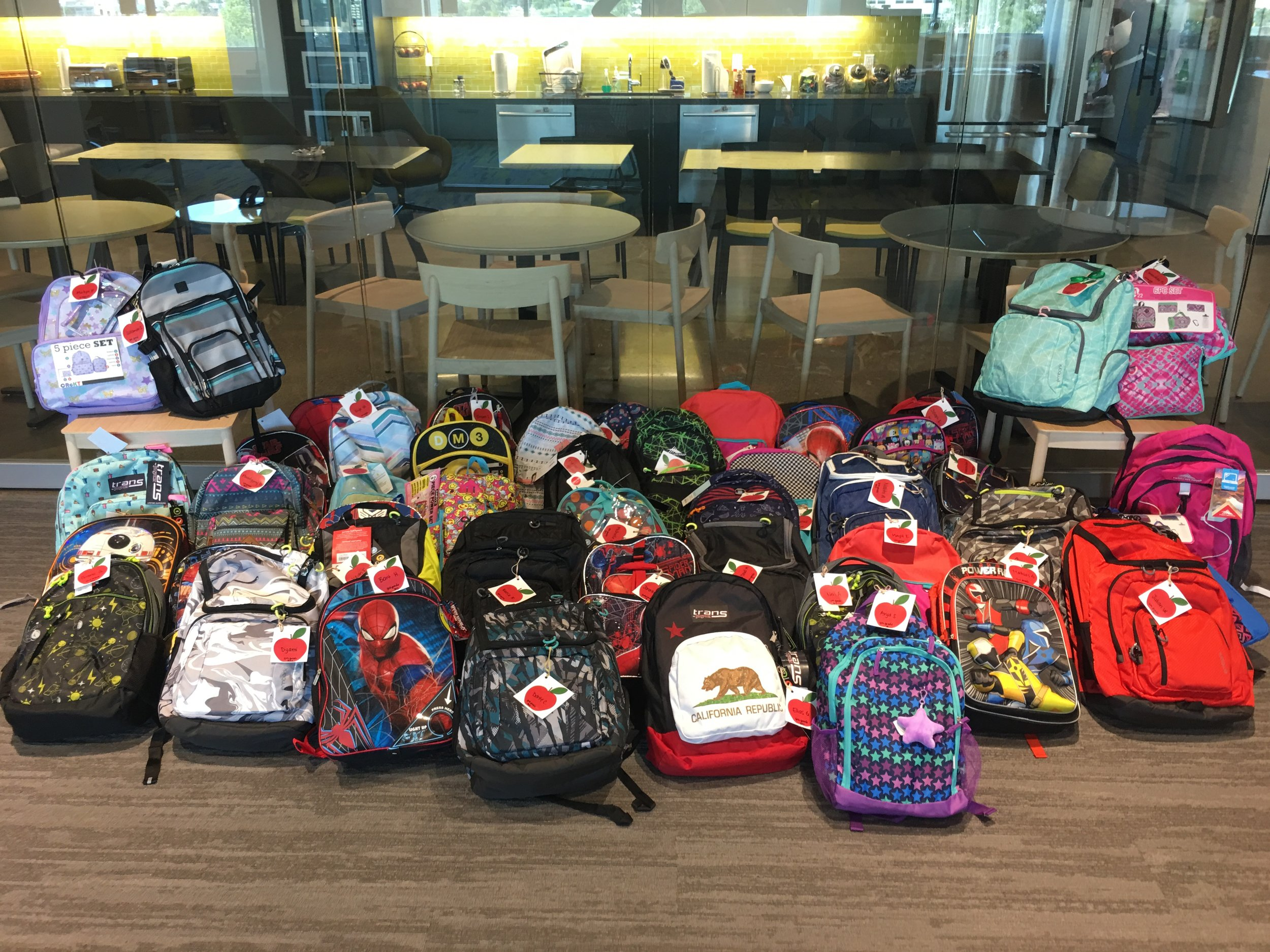 The Fall 2017 backpack drive!