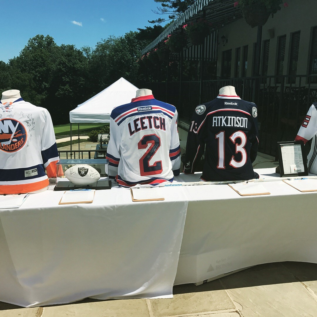 Some of the silent auction prizes at the 2017 golf tournament