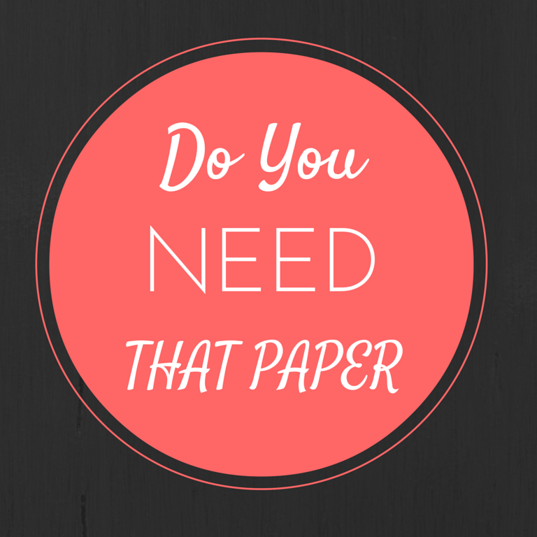 Do You Need That Paper