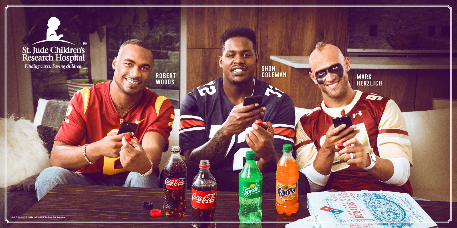 Coke Dominos NFL St. Jude 001