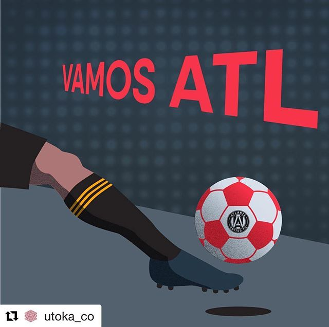 #Repost @utoka_co with @get_repost ・・・ Who's ready for the big game tonight? Repost to declare your love for @atlutd 🖤⚽️❤️ | Content by @utoka_co • • • • • •  #utoka #socialmedia #content #contentcreators #contentcreator #contentcreation #advertising #creative #creativedesign #design #graphicdesign #illustration #designinspo #art #agency #atlanta #communication #marketing #atlantaunited #ATLUTD #UniteAndConquer #playoffs #MLS #5StripeNation #KingsOfTheSouth #mlsplayoffs #soccer #weloveatl #vamosatl