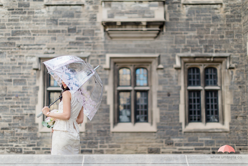 Floral birdcage umbrella from White Umbrella Co - www.whiteumbrellaco.com /  Photo:  Cari Zhu Photography