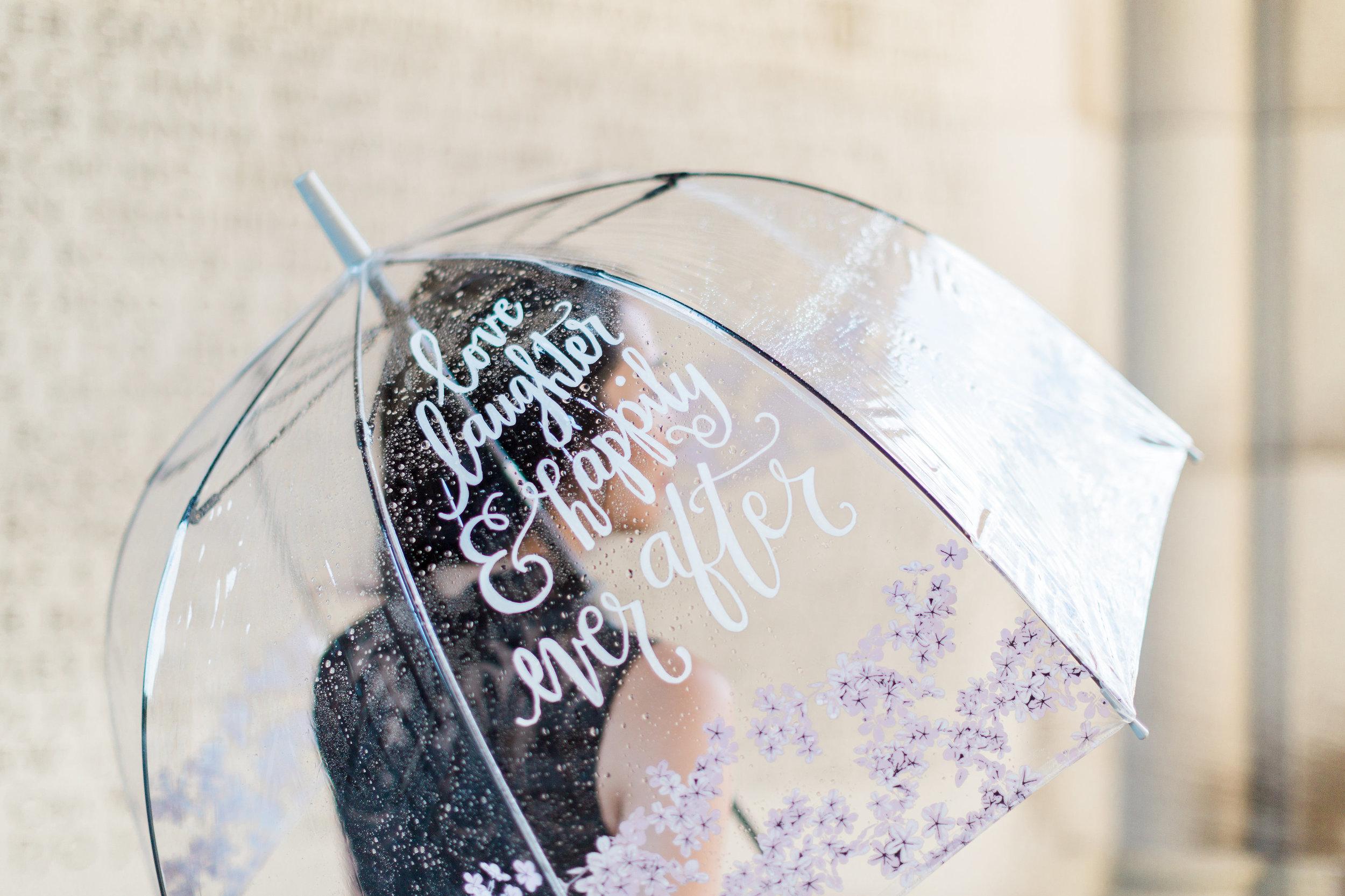 Custom Calligraphy with White Umbrella Co.