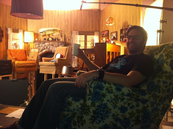 Me in my fancy directors chair.