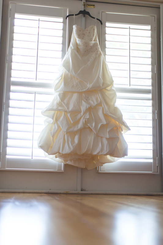 Outdoor Southern Wedding   Wedding Dress worn with cowboy boots