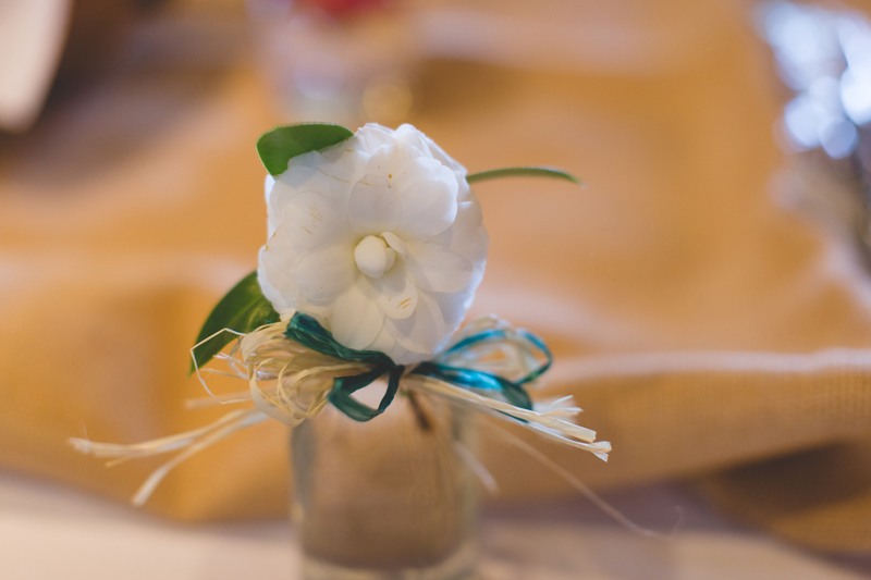 Outdoor Southern Wedding   pretty little flowers in mason jars
