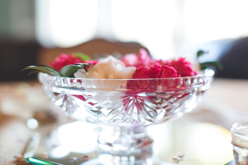 Outdoor Southern Wedding   flowers in vintage vases