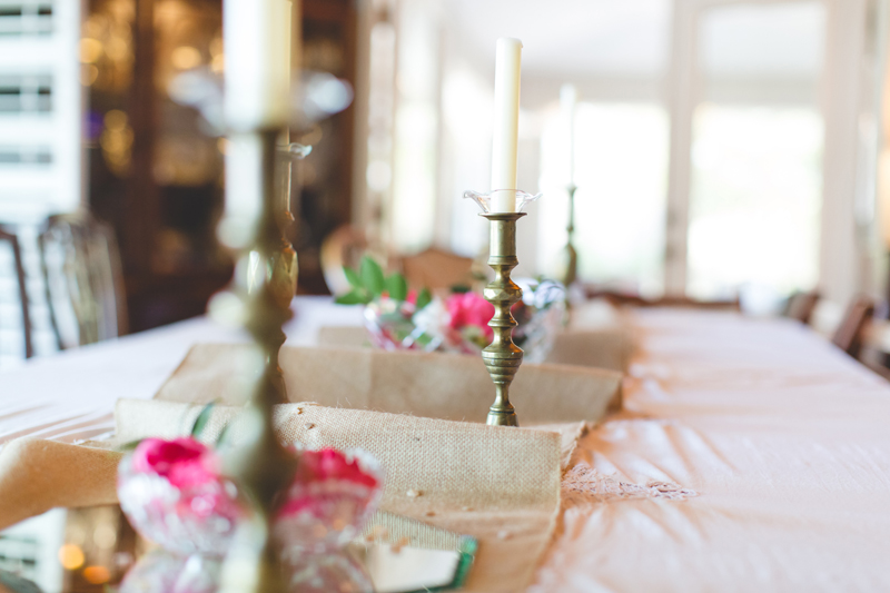 Outdoor Southern Wedding | vintage candles