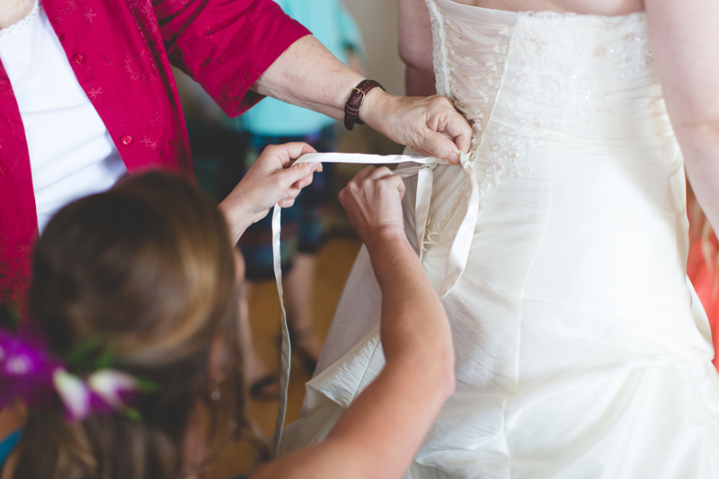 Outdoor Southern Wedding   bride getting ready