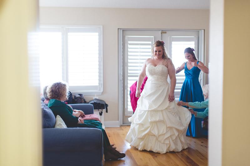 Outdoor Southern Wedding   happy bride