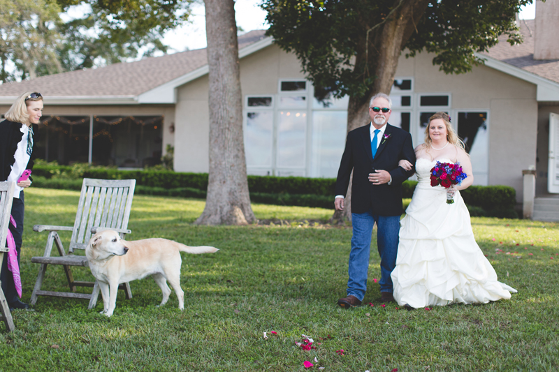 Outdoor Southern Wedding   bride & Father