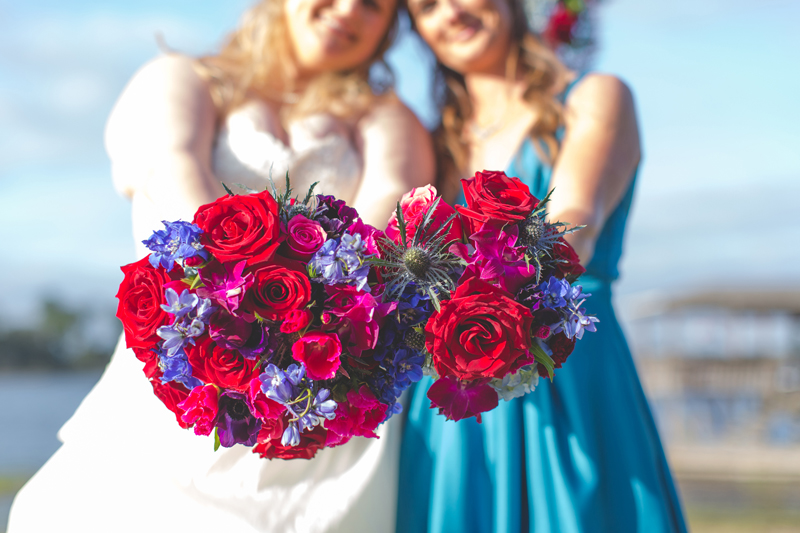 Outdoor Southern Wedding   maid of honor and bride