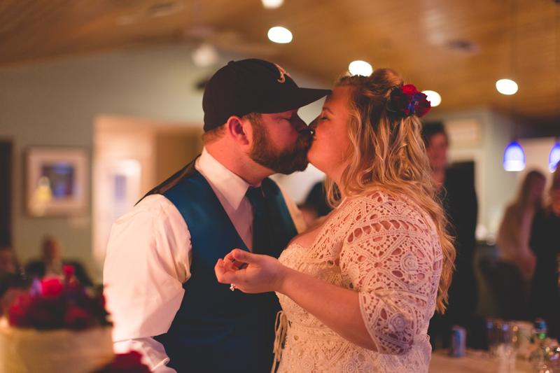 Outdoor Southern Wedding   bride and groom wedding cake