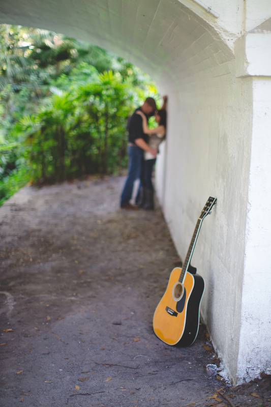 Outdoor Orlando Engagement Session | guitar