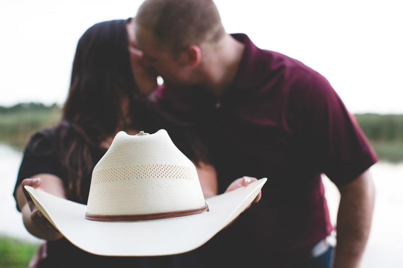 cowboy hat engagement ring photo