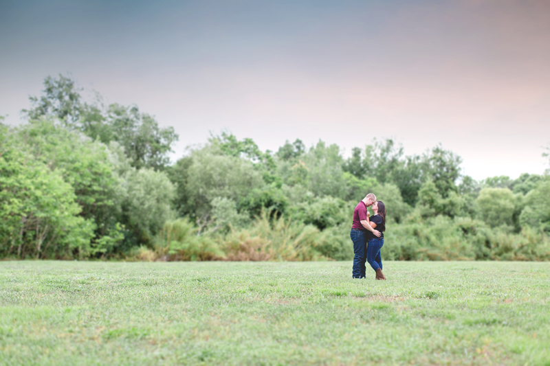 lakeland lake parker sunset engagement photo