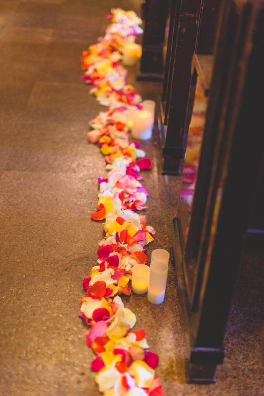 orange county regional history center intimate wedding bright summer wedding flowers decorate the aisle