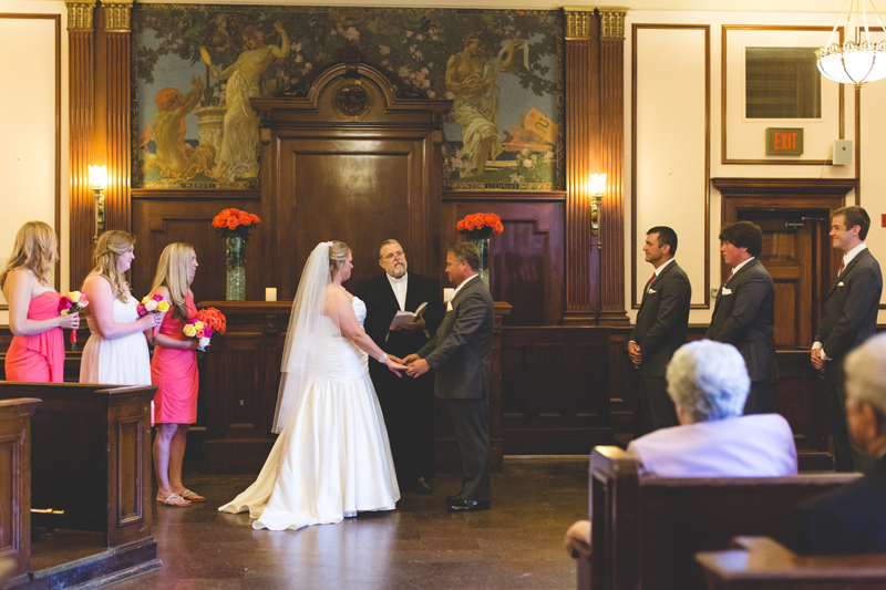 orange county regional history center intimate wedding ceremony inside of old courtroom
