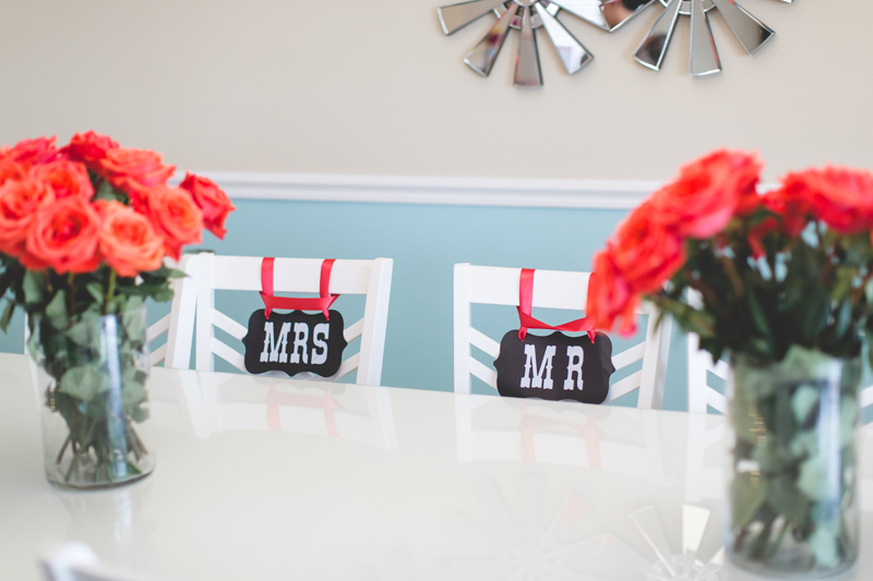 orange county regional history center intimate wedding mrs and mr signs on chairs at reception