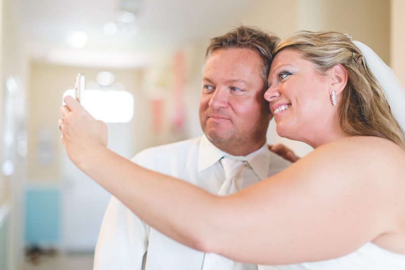 orange county regional history center intimate wedding bride and groom taking a selfie