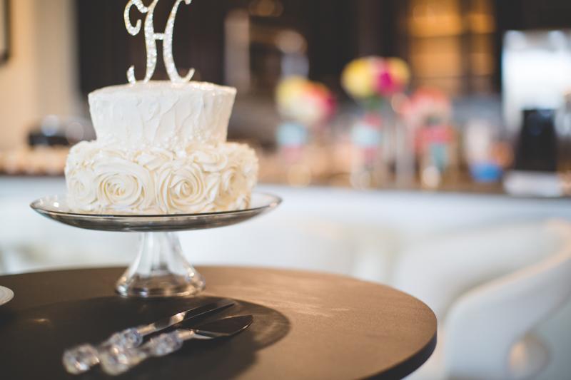 orange county regional history center intimate wedding wedding cake at reception