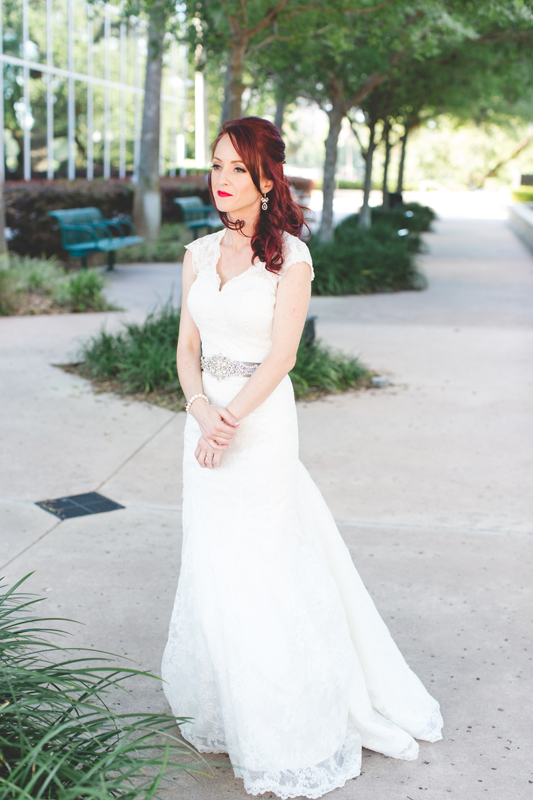 31 bride in wedding dress outdoors waiting for groom orlando outdoor wedding photographer 310 lakeside wedding cj-209.jpg