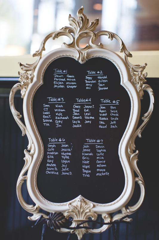 64 seating chart on chalkboard at reception orlando outdoor wedding photographer 310 lakeside wedding cj-247.jpg