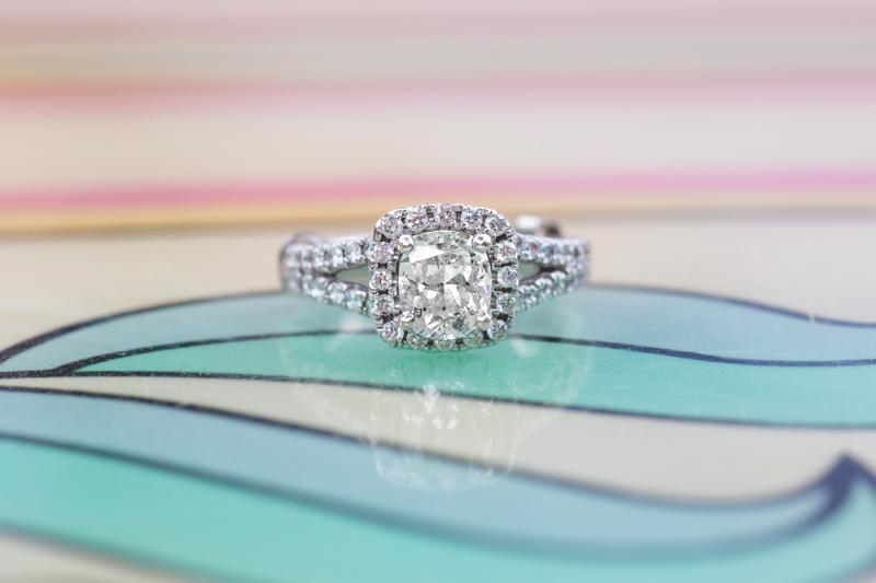 Disney Magic Kingdom Engagement photos enagement ring