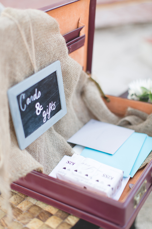 Card and gift table idea - Beach Wedding Photos - destination Orlando wedding photographer - Jaime DiOrio