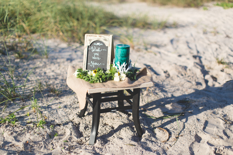 Remembering family members table idea - Beach Wedding Photos - destination Orlando wedding photographer - Jaime DiOrio