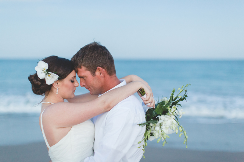 Bride and Groom - Beach Wedding Photos - destination Orlando wedding photographer - Jaime DiOrio