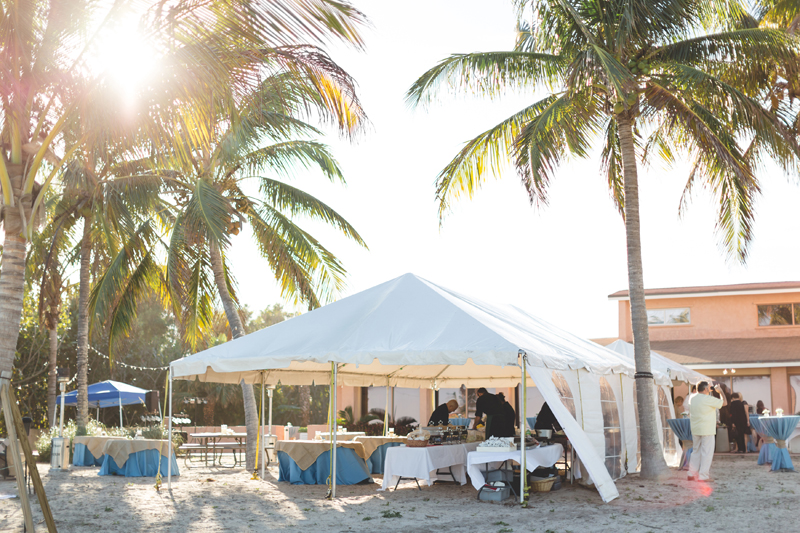 Tent reception on beach - Beach Wedding Photos - destination Orlando wedding photographer - Jaime DiOrio