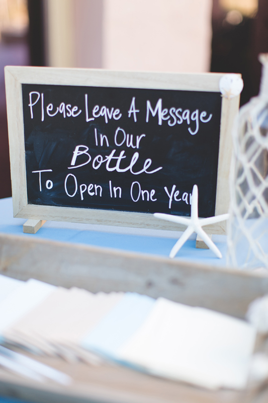 Message in a bottle guest book idea - Beach Wedding Photos - destination Orlando wedding photographer - Jaime DiOrio